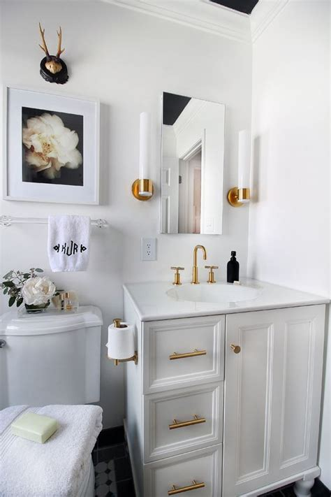 White And Gold Bathroom Ideas Small Bathroom Remodeling Guide 30 Pics Decoholic
