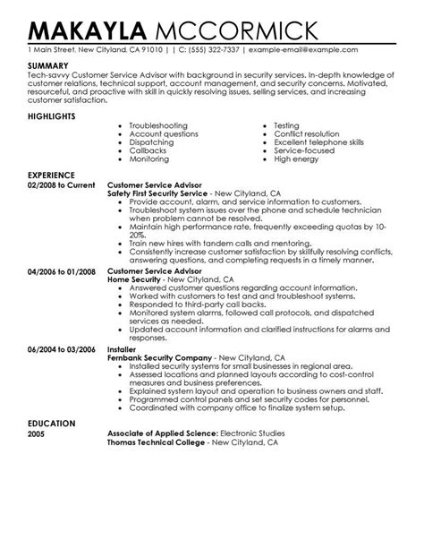 phd resume advisor automotive service advisor resume exle resume
