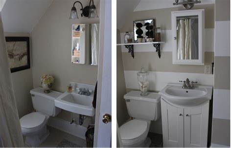 Home Decorating Made Easy by Small Bathroom Makeover Elbow Grease Pinterest