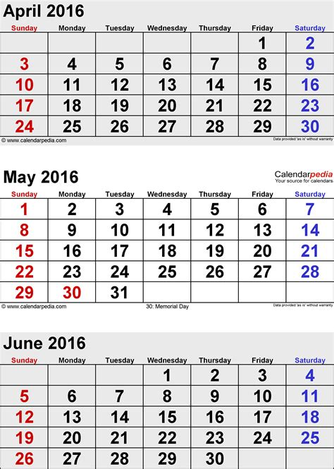 daily planner july 2015 june 2016 june 2016 calendars for word excel pdf
