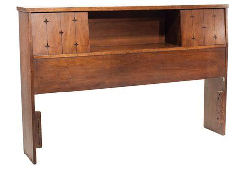 mid century modern bookcase headboard consigned mid century modern dark walnut broyhill saga