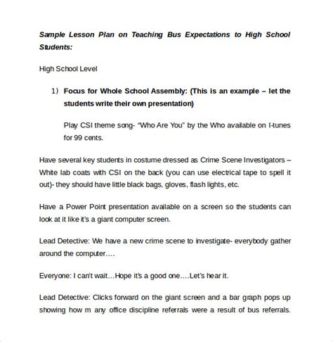 singapore math lesson plan template sle high school lesson plan 8 documents in pdf word
