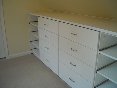 Closet Drawers by Built In Storage Drawers With Slide Out Shoe Shelves