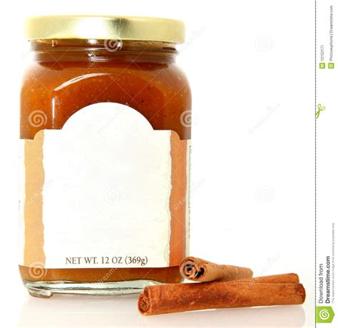 Jam Guess Blang Blank pumpkin butter spread with blank label stock image image 12152171