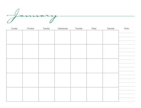 Printable Calendars Without Dates | monthly calender without dates calendar template 2016