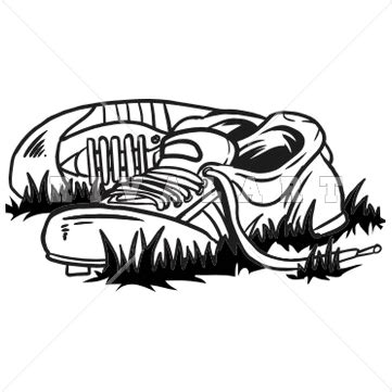 track shoe black and white running shoe clipart wikiclipart