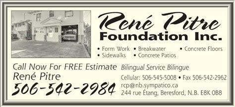 Foundation Ranee pitre ren 233 foundation inc beresford nb 244 rue etang canpages
