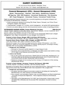 cfo resume examples | examples of good resumes that get jobs - Cfo Resume Examples