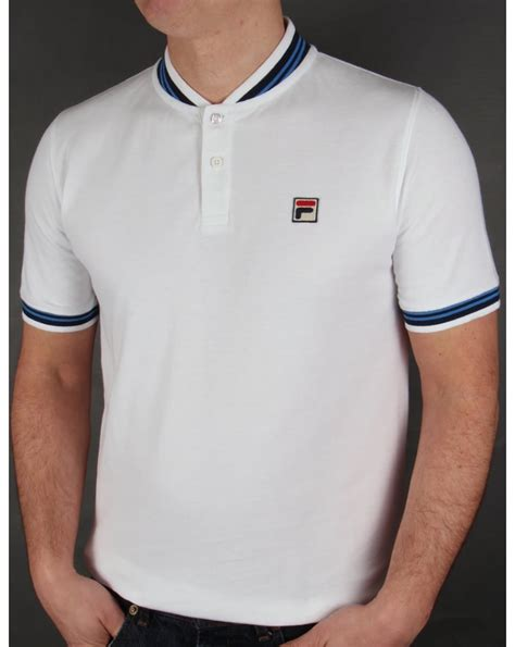 Shirt For Fila Vintage Skipper Polo Shirt White Cotton Mens Baseball