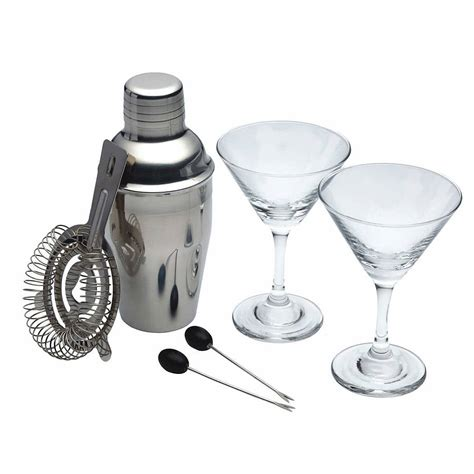portable cocktail set six piece mini martini cocktail set by whisk hers