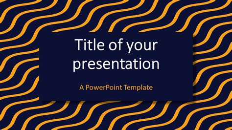 yellow wavy pattern blue yellow wavy pattern powerpoint template
