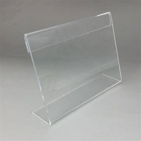Acrylic Tebal 2 Mm clear 110x85mm t2mm plastic acrylic sign display show paper promotion card table label holder l