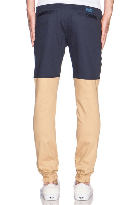 Tendencies Navy Two Tone Zipphood lyst timberland two tone jogger in blue for