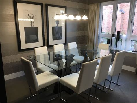 show home dining room show home dining room glass table 8 chairs in fleet hshire family services uk