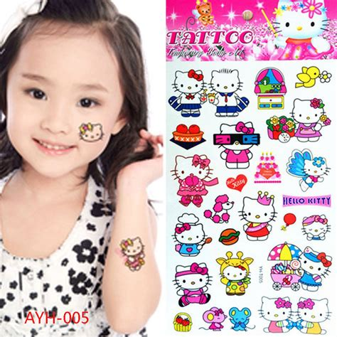 henna tattoo hello kitty pink hello cats child temporary