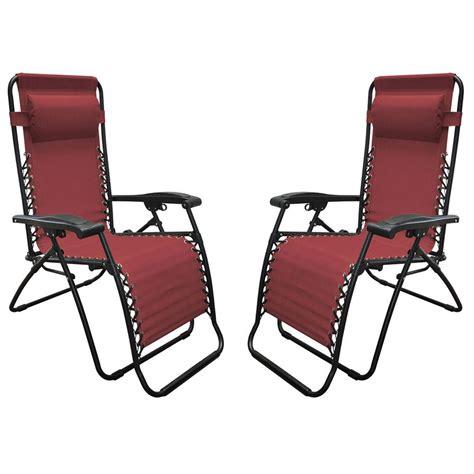 Zero Gravity Chair 2 Pack by Zero Gravity Recliner Burgundy 2 Pack Caravan Canopy