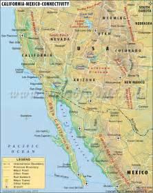 mexico california map map of california and mexico