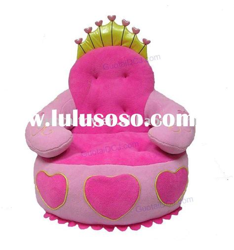 baby plush chair and seat princess pink kids beanbag chair cartoon newest princess bed pink baby bed baby doll bed for sale
