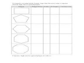 polygon angle sum worksheet davezan