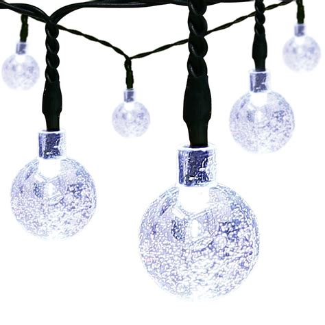 solar led christmas string globe lights 5 49 shipped reg