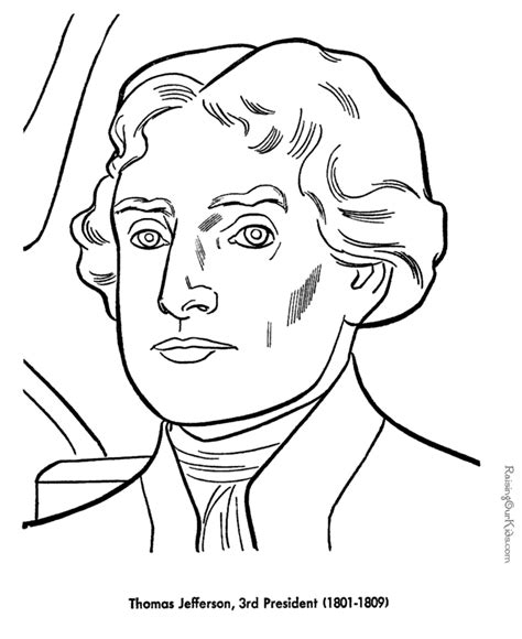 thomas jefferson coloring pages free and printable