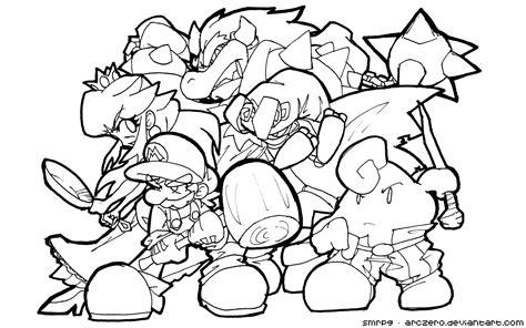 Dibujo De Mario Bros Para Colorear Dibujos Para Colorear Mario 3d World Coloring Pages