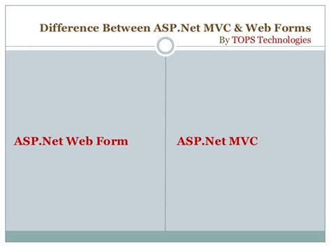 improvements to asp net web forms asp net blog what is the difference between asp net mvc and web forms