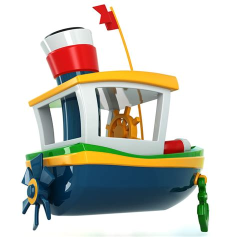 toy boat obj 3d model toy ship