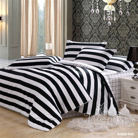 black white striped bedding popular black and white stripe duvet cover set buy cheap