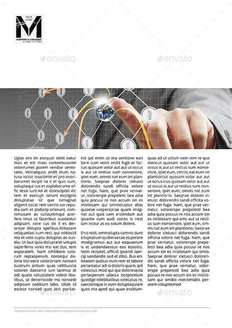 corporate digital magazine template by keboto graphicriver