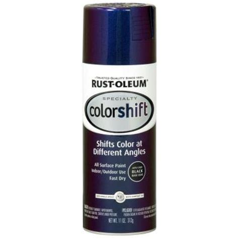rust oleum specialty 11 oz galaxy blue color shift spray paint of 6 254860 the home depot