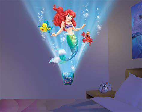 wild walls little mermaid light sound room decor only uncle milton wild walls little mermaid light and sound
