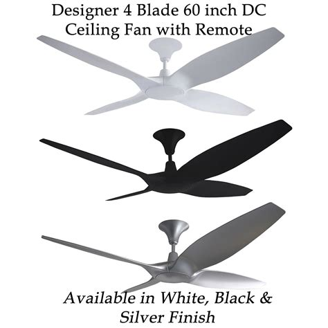 60 ceiling fan designer 4 blade 60 inch 1524mm dc ceiling fan with