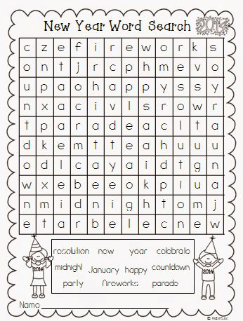 printable wordsearch for year 6 creative lesson cafe a new year word search freebie