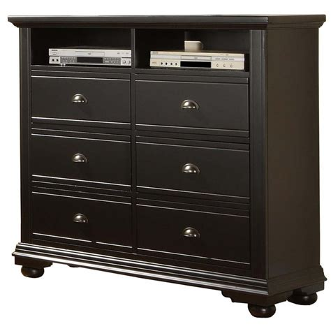 black media chest with drawers picket house furnishings addison 6 drawer media chest in