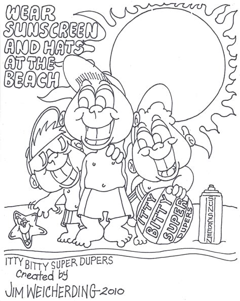 sun safety coloring pages coloring home