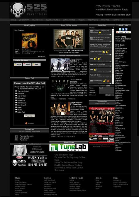 website design  websites  radio musicians