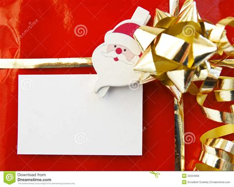 Empty Gift Cards - christmas gift with empty card royalty free stock image image 22204906