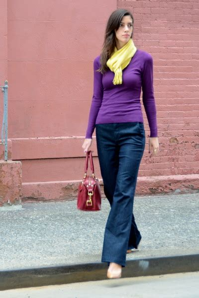 Hm Uniqlo Maine navy wide leg vince purple h m sweaters yellow uniqlo scarves quot flared quot by
