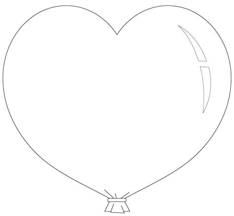 heart balloon coloring page heart balloon coloring pages kleurplaten pinterest