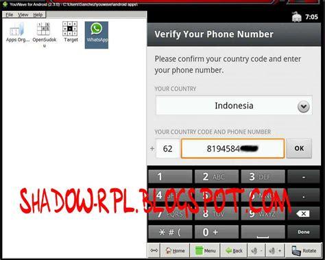 memainkan whatsapp  laptop pc shadow rpl