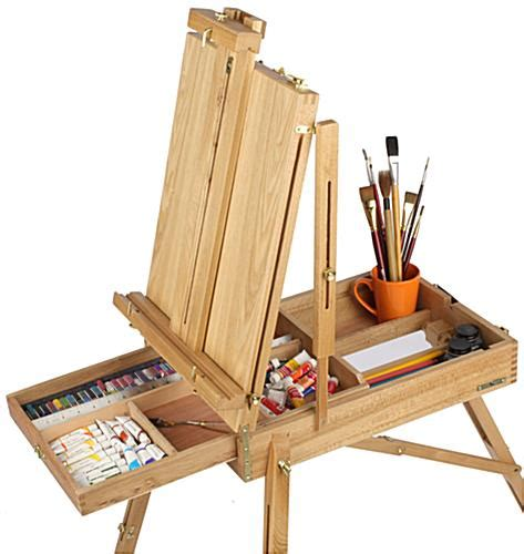 Table Top Easels French Easel For Painting Artists Adjustable With Storage