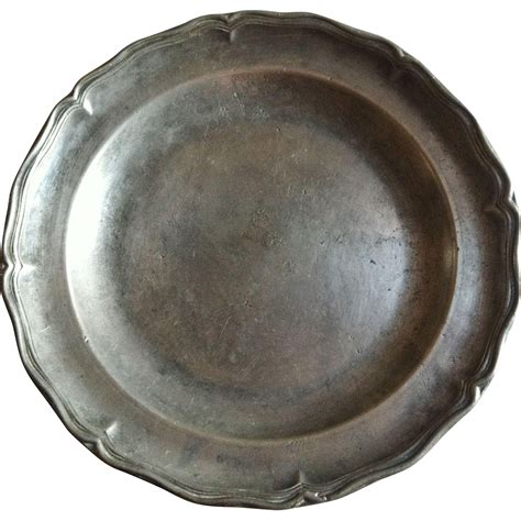 pewter charger pewter charger 18th century louis xv from