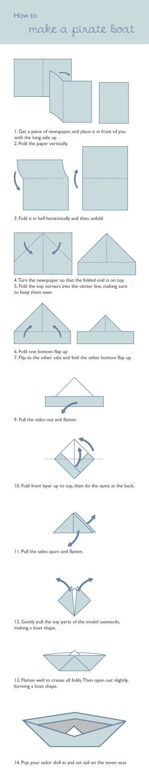 How To Make A Origami Pirate Ship - 1000 ideas about pirate boats on cardboard