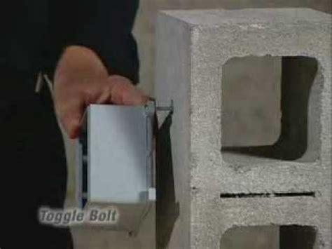 anchor into a concrete wall toggle bolt concrete