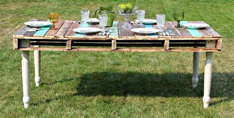 recycled pallet dining table pallet dining table with reclaimed legs