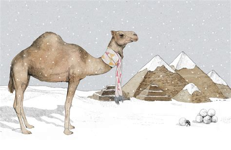 christmas camel by jamie mitchell society6