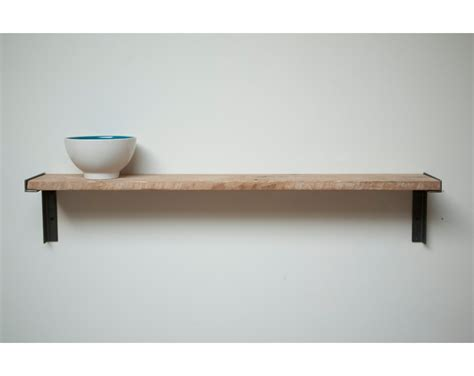 minimal wall mount shelf reclaimed growth wood an iron