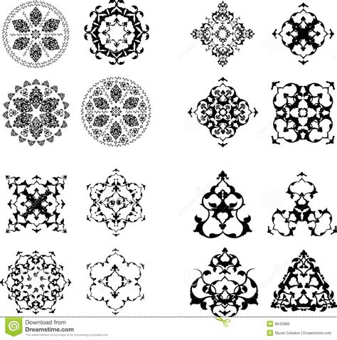 what elements defined ottoman art traditional ottoman turkish design elements stock vector