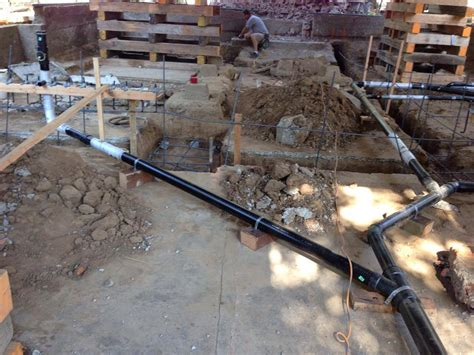 Underground Plumbing Repair Underground Plumbing Ready To Go Maxton Builders